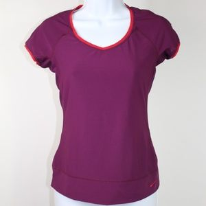 Nike fit dry shirt short sleeve violet purple red